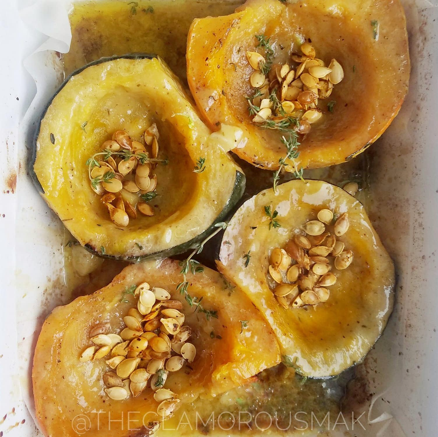 Roasted Tahini Maple Squash