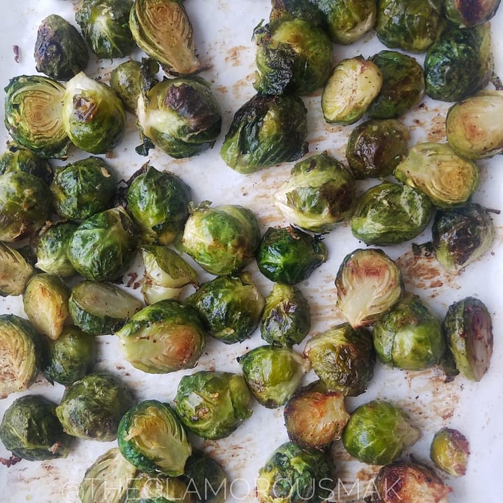 Brussel sprouts with tahini dressing