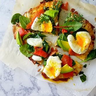 @theglamorousmak salmon breakfast pizza