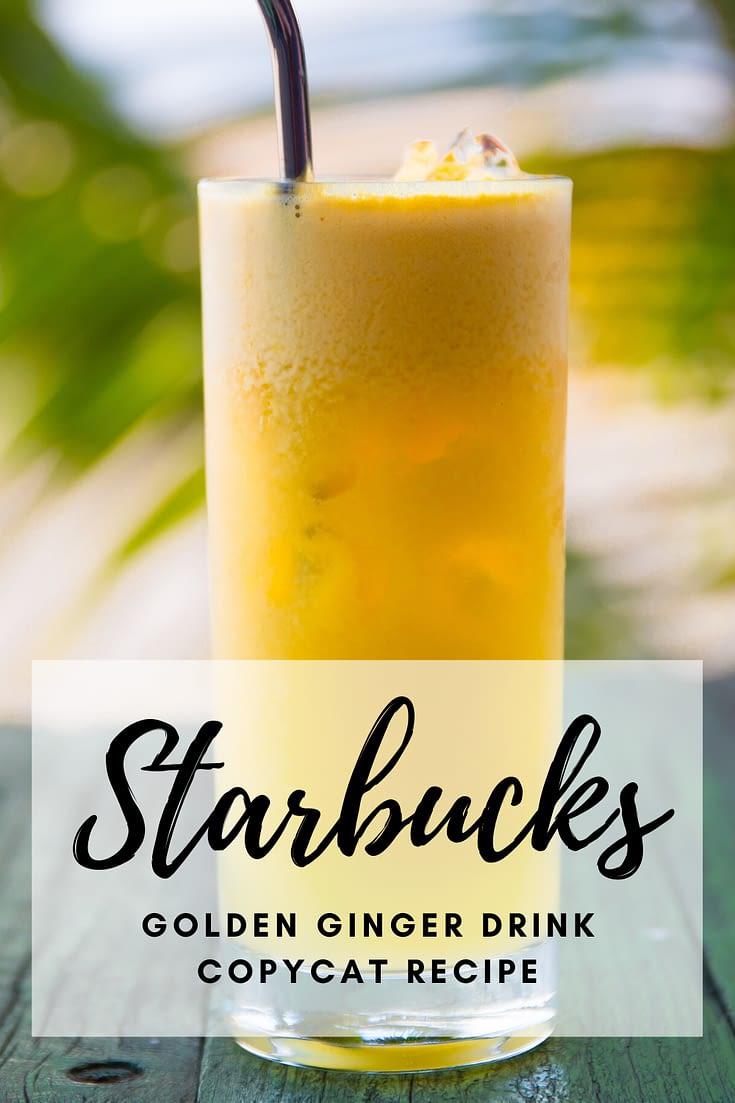How to make Starbucks iced golden ginger drink copycat recipe with coconutmilk | coconut milk refresher, starbucks iced, starbucks hacks, the best starbucks drinks