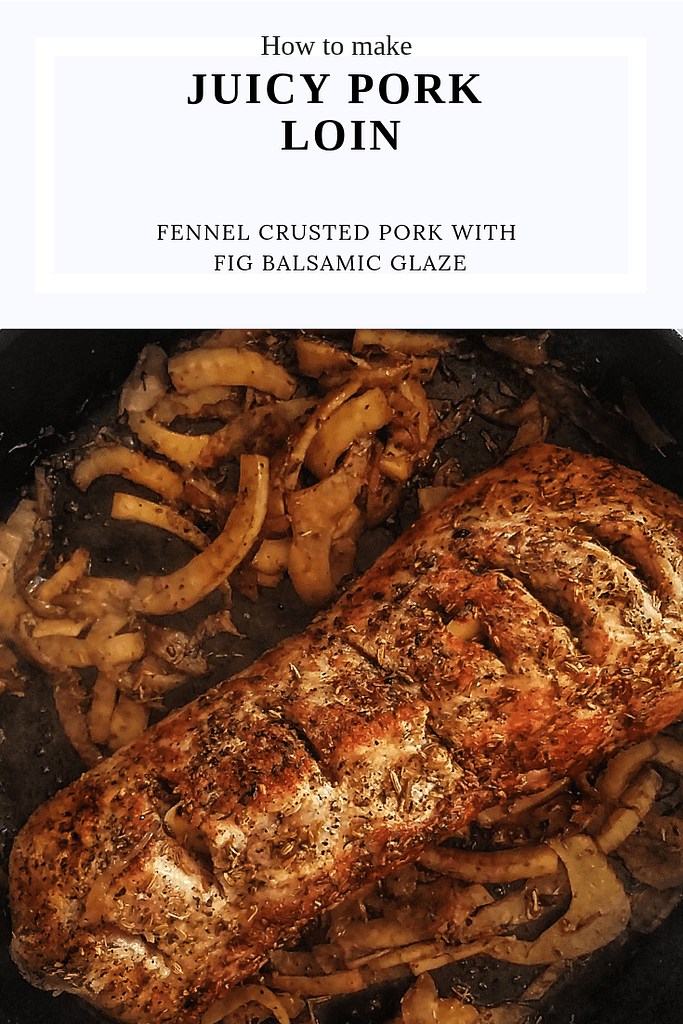 how to bake fennel crusted pork loin in the oven in 30 minutes. Perfect to weeknight dinners or dinner tonight
