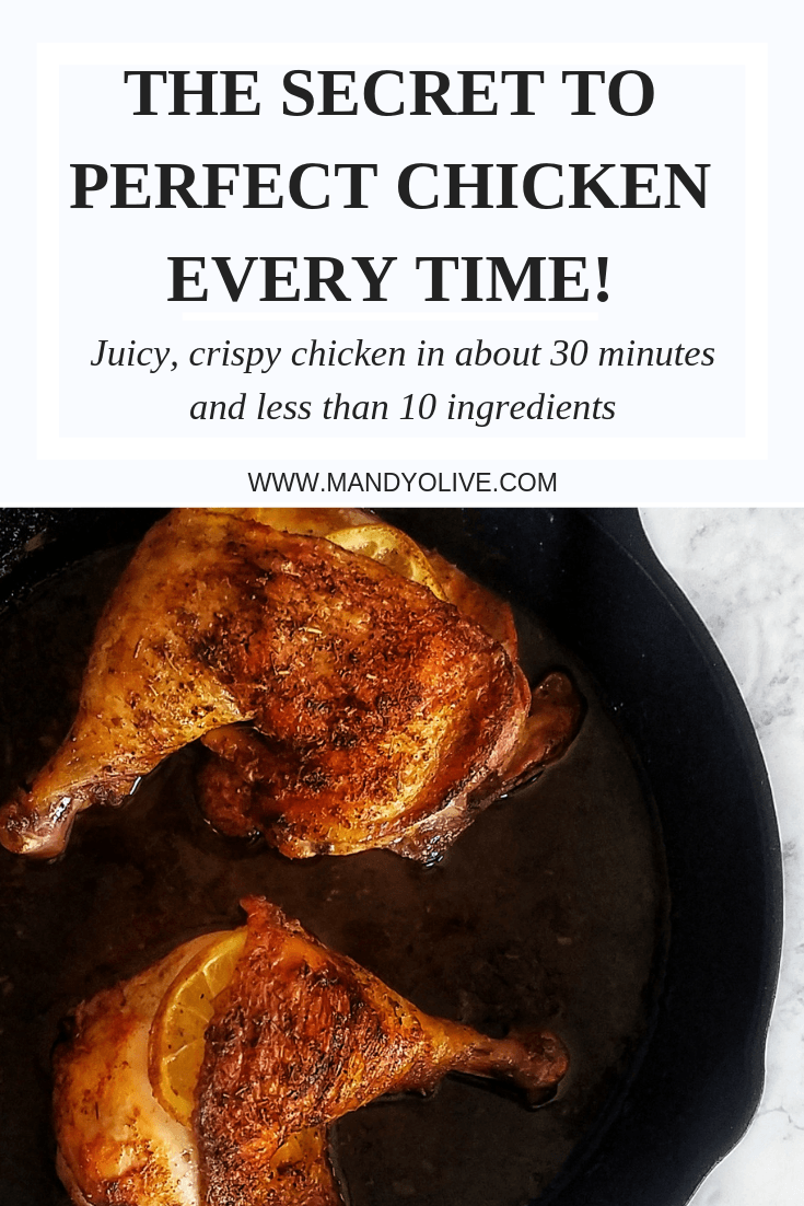 how to cook crispy chicken thighs. cast iron cooking. easy dinner ideas. chicken recipes.