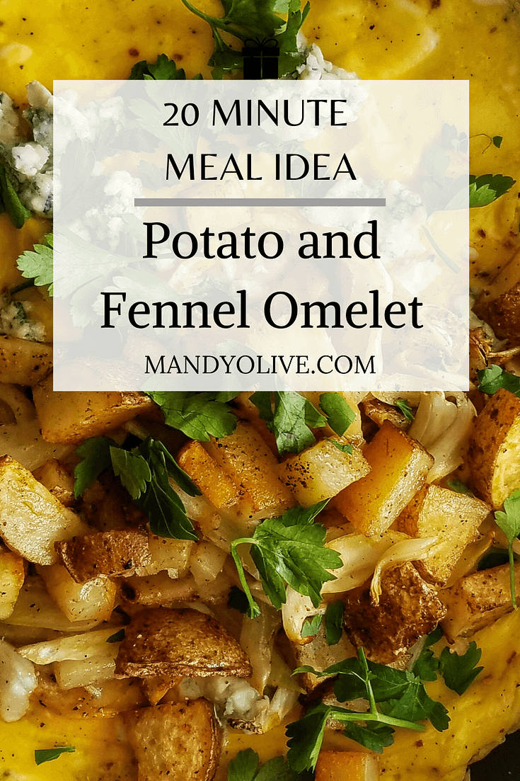 How to make and omelet. | roasted potato and fennel omelet. quick and easy brunch recipe. best breakfast ideas, breakfast with eggs.