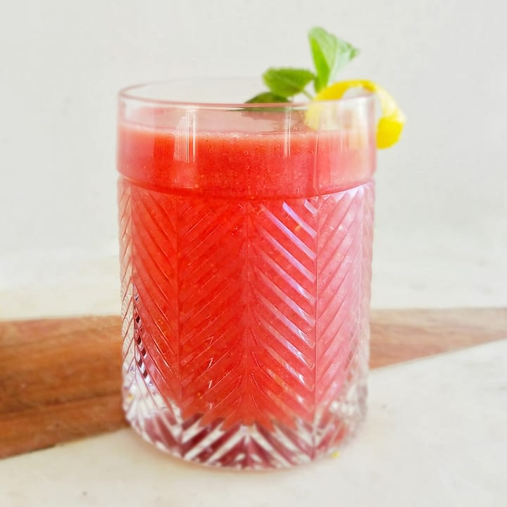 Frozen Strawberry Maple Bourbon Lemonade