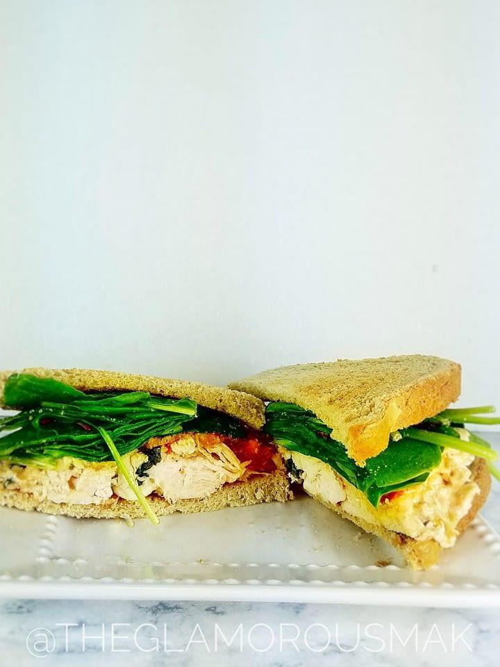@theglamorousmak BLT Chicken Salad Sandwich