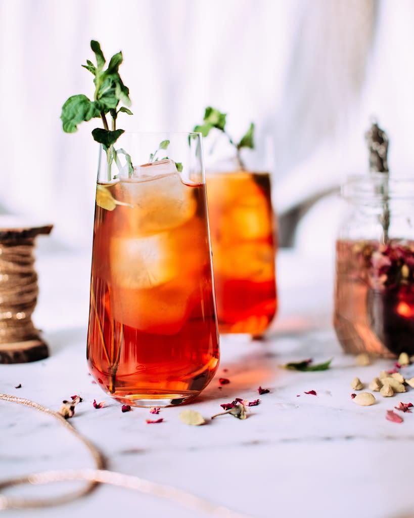 bourbon peach shrub recipe found on mandyolive.com/bourbon-peach-shrub photo by foodess