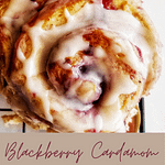 cardamom blackberry sweet rolls pin recipe found on mandyolive.com