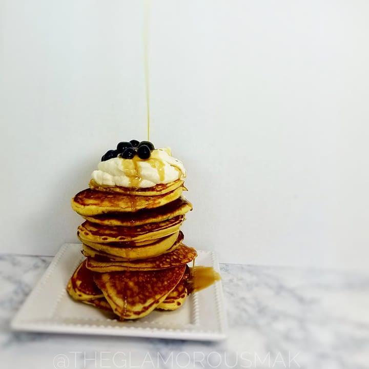 Lemony Blueberry Ricotta Pancakes