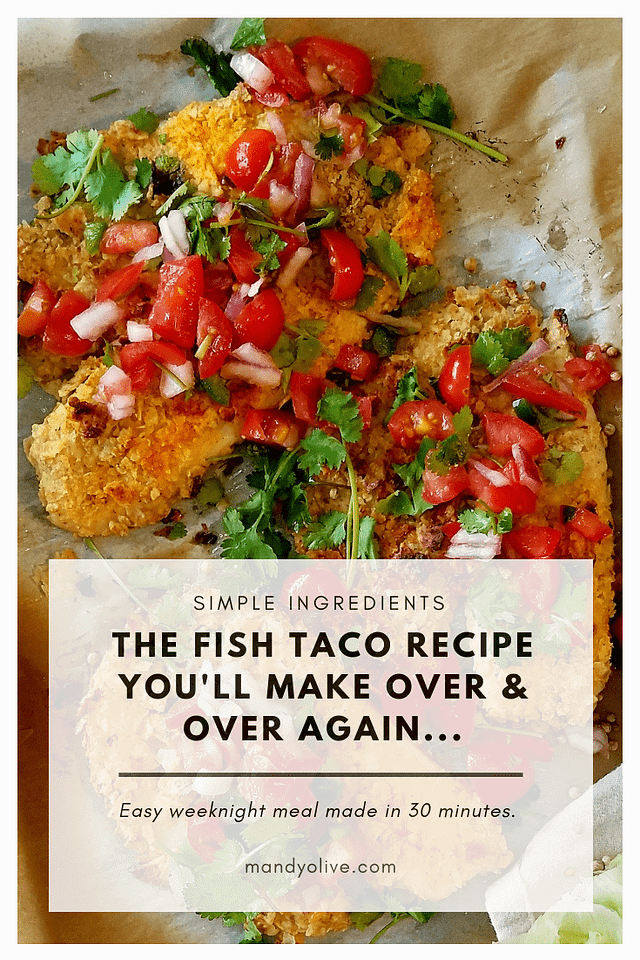 These are the best baja fish tacos. they are spicy, creamy, and crunchy. Made with simple ingredients including red cabbage, pico de gallo, tortilla crusted tilapia, avocado, sriracha mayo, for dinner made in 30 minutes. | weeknight dinner, easy, summer recipes, taco recipes, how to cook tilapia, fish taco sauce, baked, healthy, cilantro lime, breaded, salsa, fish tacos with cabbage slaw,