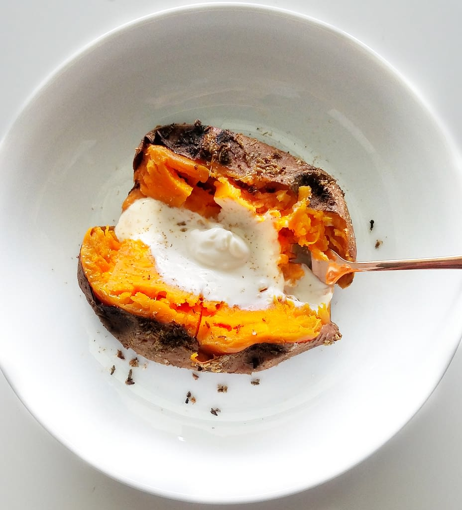 slow roasted sweet potatoes with whipped ricotta mandyolive.com