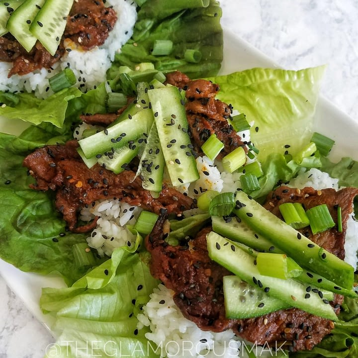 Spicy Korean Pork Bulgogi Lettuce Wraps