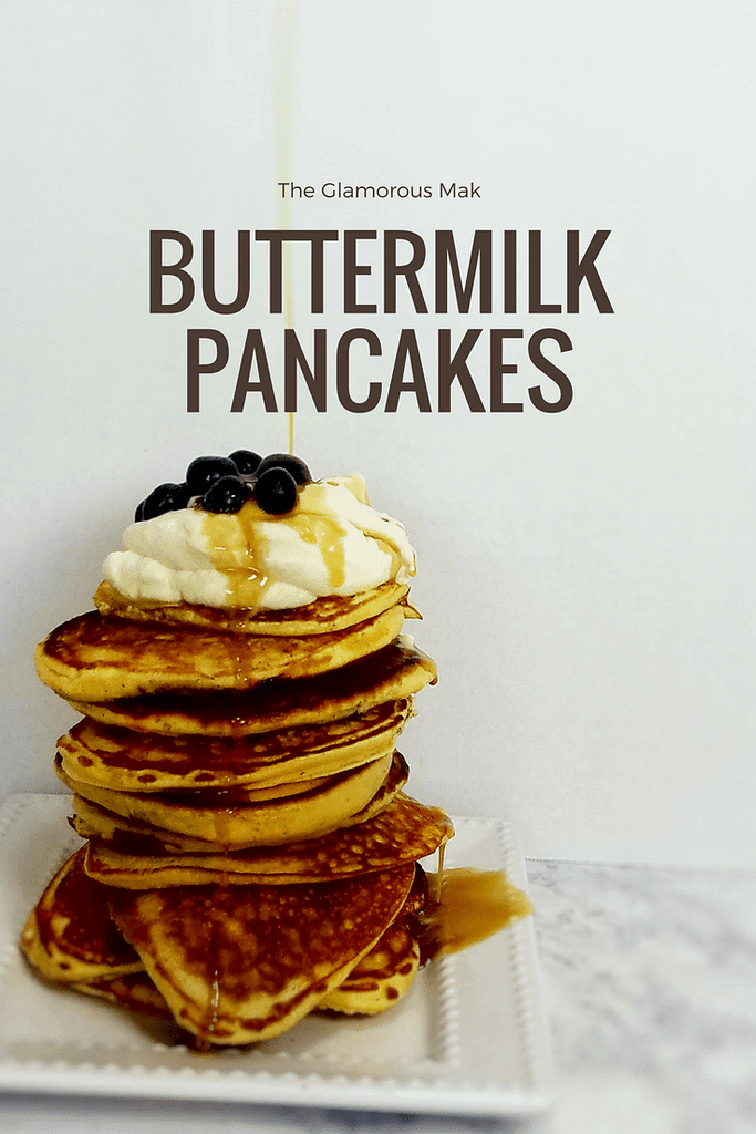 Learn how to make the best buttermilk pancakes is an easy breakfast recipe made from scratch. These fluffy buttermilk pancakes are a must have in your recipe arsenal for small batch cooking.