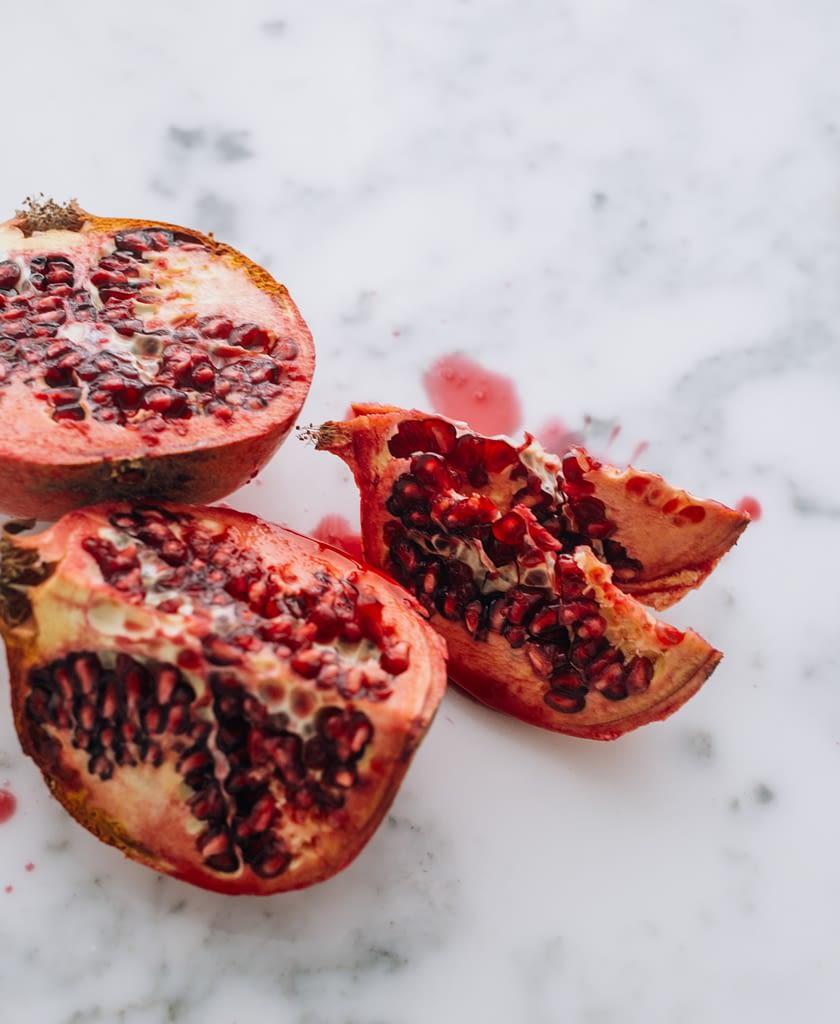 pomegranates. picture found on unsplash